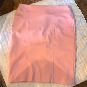 Pink pencil skirt zip up back